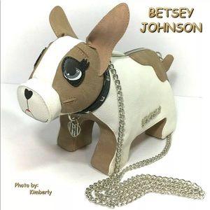 Betsey Johnson Dog Handbag French Bulldog Purse